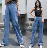 現貨XL牛仔褲長褲直筒褲闊腿褲1F157.198