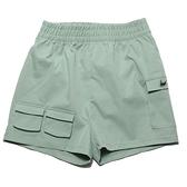 NIKE 運動褲 短褲 綠 立體銀勾 口袋 抽繩 休閒 NSW SWOOSH 女 (布魯克林) CZ9382-006