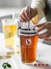 隨行杯 加厚水果茶玻璃杯網紅ins吸管杯...