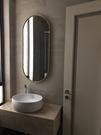 浴室鏡 北歐風浴室鏡子衛生間鏡子衛浴廁所洗手間鏡子掛牆壁掛橢圓 店慶降價
