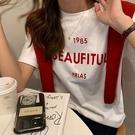 字母印花磨毛短袖T恤棉T上衣韓版【29-11-8T89613-20】ibella 艾貝拉