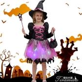 萬聖節女童服飾--服裝角色扮演女童紫色女巫婆披風cospaly化妝 提拉米蘇