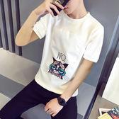 【雙11】短袖t恤新款夏季男士圓領半袖體恤正韓潮流卡通打底衫上衣服折300
