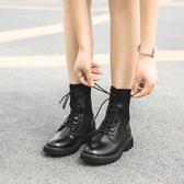 馬丁靴女英倫風2020新款春秋機車單靴百搭網紅帥氣瘦瘦短靴子