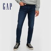 Gap男裝 時尚中腰修身款緊身牛仔褲 604003-靛藍色