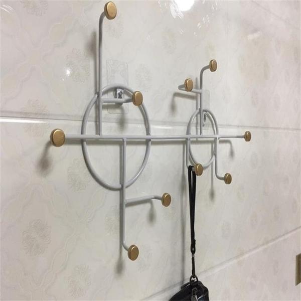 創意鐵藝牆上衣服掛鉤 飾品壁掛架 包包鑰匙掛鉤免打孔 NMS  黛尼時尚精品