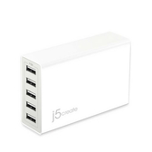 j5create 凱捷 JUP50 5-Port USB 智慧型 快速 充電器