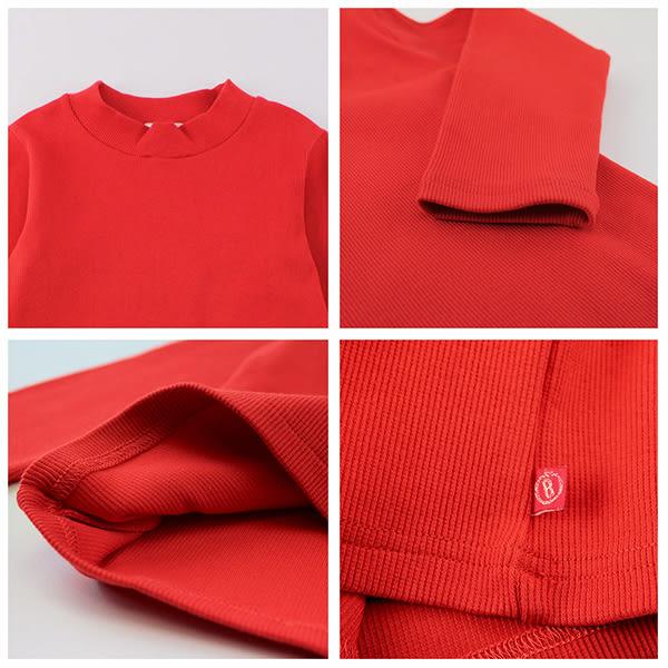 【愛的世界】彈性羅紋長袖套頭衫/10~12歲-台灣製- ★秋冬上著