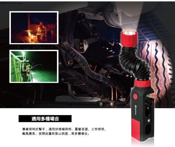 KINYO LED-200 高亮度軟管可夾式工作燈 (登山露營 緊急照明燈手電筒 地震包必備 推薦)
