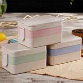 便當盒雙層分格飯盒多層大容量分隔飯盒學生兒童日式餐盒3層帶蓋igo  莉卡嚴選
