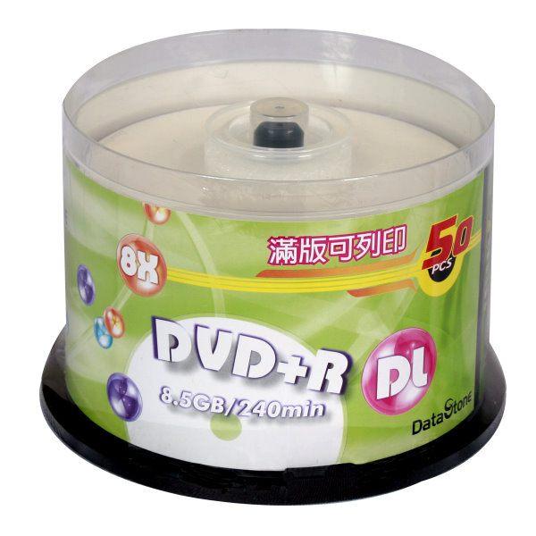 ◆免運費◆精選日本版 DataStone 正A級 DVD+R 8X DL 8.5GB 珍珠白滿版可印片 (50片布丁桶X2) 100PCS