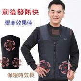 【原始點溫敷】外熱源保暖背心,  護腰護背熱毯 , 低電壓安全智能溫控,  定時自動斷電 *7