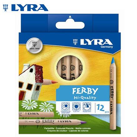 【德國LYRA】 3611120 三角原木 色鉛筆 (12cm) 12色 /盒