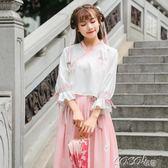古裝 漢服夏裝女中國風日常裝古裝服裝古風學生裝畢業照班服套裝igo  coco衣巷