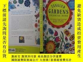 二手書博民逛書店填塗色彩罕見Tangled Gardens Coloring B