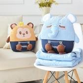 卡通折疊汽車抱枕被子兩用純棉家居靠墊辦公室午睡被二合一枕頭毯