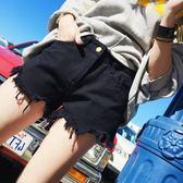黑色牛仔短褲女2019新款夏季韓版高腰寬鬆顯瘦熱褲潮ins外穿