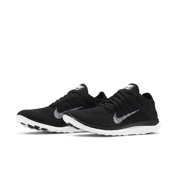 NIKE FREE 4.0 FLYKNIT 襪套 編織 慢跑鞋 男鞋 631053-001 黑白