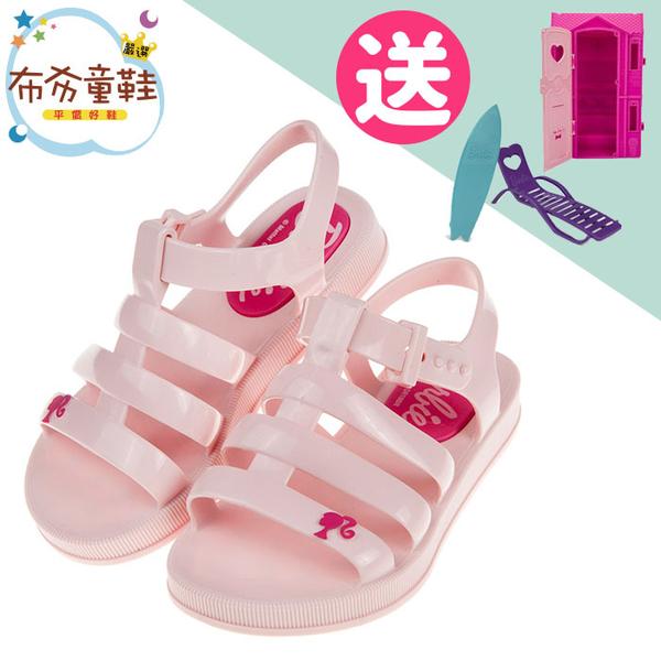 《布布童鞋》BARBIE_芭比公主夏日粉紅色兒童涼鞋(16~22公分) [ U9A560G ]