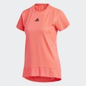 ADIDAS HEAT.RDY TRAINING 女裝 短袖 慢跑 訓練 吸濕 排汗 透氣 網布 拼接 粉橘【運動世界】GL6923
