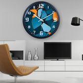 時尚客廳創意現代簡約大氣時鐘石英鐘鐘錶掛錶臥室靜音錶個性掛鐘   潮流前線