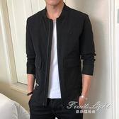 外套男裝韓版潮流休閒修身上衣男裝休閒棒球服男士夾克 果果輕時尚
