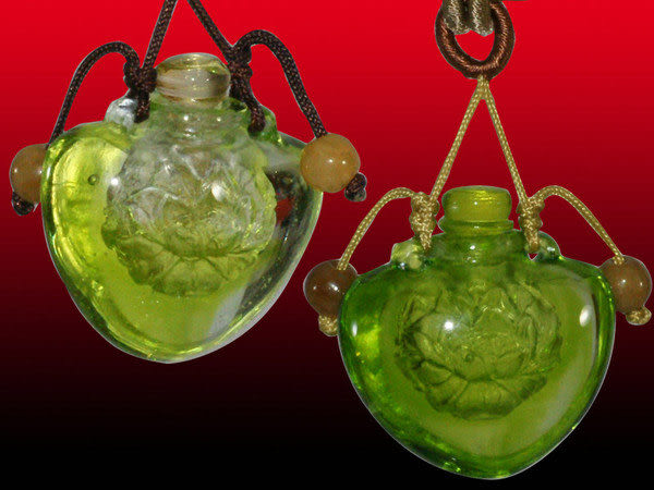鹿港窯~開運琉璃項鍊~香精、香水瓶~荷香蓮花 附精美包裝◆免運費送到家