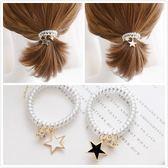 【NiNi Me】韓系髮飾 氣質甜美可愛星星水鑽電話線髮束 髮束 H9419