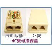 4C雙孔電話接線盒(1進2出)