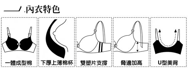EASY SHOP-花采香芬 大罩杯A-E罩內衣(花香粉)