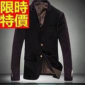 西裝外套  男韓版 西服 細緻走秀款-時髦紳士風俐落金絲絨65b46[巴黎精品]