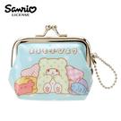 粉藍款【日本正版】拖把小熊 拖把熊 珠扣包 零錢包 防潑水 小物收納 三麗鷗 Sanrio - 054728