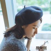 毛帽韓國貝雷帽復古畫家帽羊毛帽