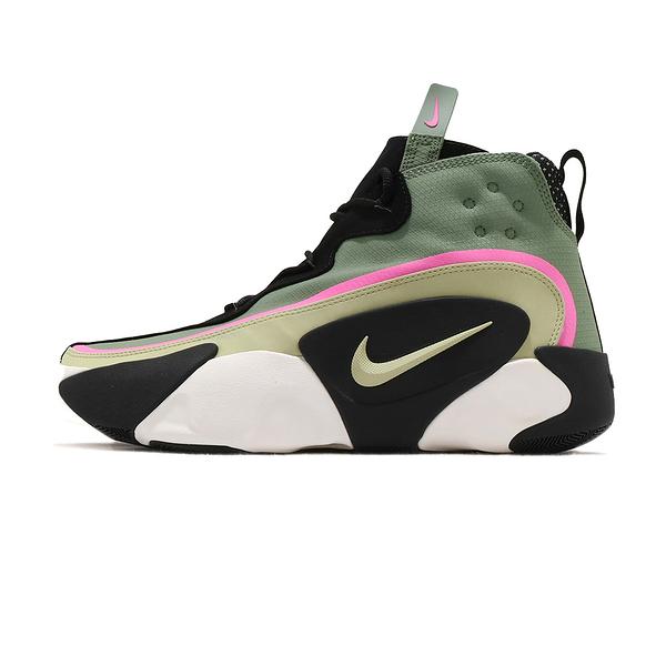 Nike REACT FRENZY 男鞋 黑綠 高筒 避震 包覆 籃球鞋 CN0842-300