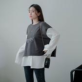 現貨-MIUSTAR 側綁結拼接襯衫後襬棉質上衣(共2色)【NJ0524】