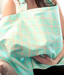 iae創百市集 美國Mothers Lounge Udder Cover 美型哺乳巾/哺乳遮罩-芽綠薄荷