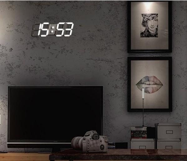 多功能3D立體數位顯示 LED時鐘 掛鐘 萬年曆 溫度計
