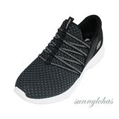 SKECHERS(女)運動系列 ULTRA FLEX 運動鞋 健身 免綁帶-12849BKW 黑 [陽光樂活]