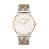 COACH 經典米蘭帶玫瑰金時尚腕錶36mm(14503631)