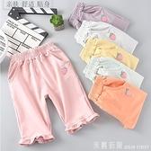 女童短褲外穿夏季寶寶純棉七分熱褲洋氣兒童薄款休閒褲子