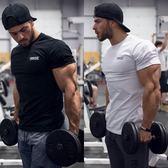 虧本衝量-Re肌肉兄弟短袖男透氣運動健身服緊身跑步圓領籃球t恤夏季上衣 快速出貨
