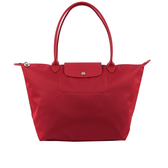【LONGCHAMP】M號長把厚款尼龍肩背包Le Pliage Neo(紅莓色)1899578379