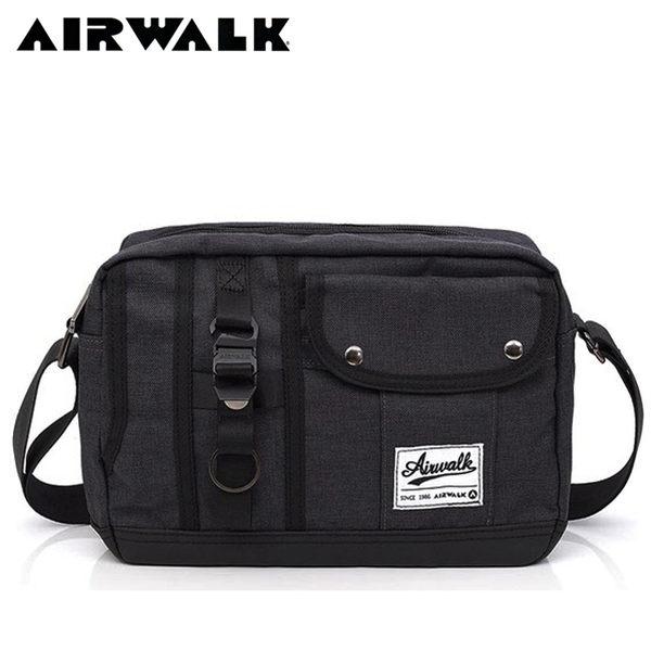 【橘子包包館】AIRWALK 都會極簡多功能口袋肩斜二用包/側背包/斜背包 A755300610 灰色