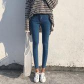裝女裝韓版彈力緊身牛仔褲簡約修身鉛筆褲九分褲顯瘦直筒褲學生   蓓娜衣都