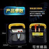 汽車電瓶充電器12v24v大功率純銅全自動通用型充滿自停摩托充電機   聖誕節快樂購