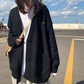 針織開衫 春秋新款韓版學院風慵懶外穿針織開衫百搭寬鬆毛衣外套學生女 雙十二全館免運