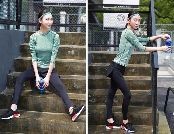 瑜伽服上衣長袖健身服速幹薄款瑜珈服女套裝夏季跑步服顯瘦運動服  - xby0040