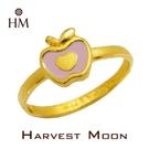 Harvest Moon 富家精品 黃金尾戒 粉紅蘋果 9999 純金金飾 女尾戒子 黃金戒指 可調式戒圍 GR00886