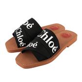 【CHLOE】WOODY FLAT MULE平底拖鞋(黑色) CHC19U18808001