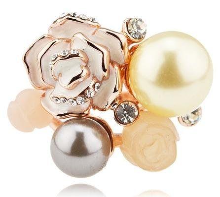 時尚花色 全新透明新鮮出爐戒指